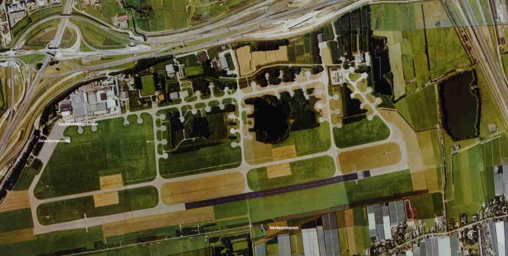 Vliegbasis Ypenburg luchtfoto 1993